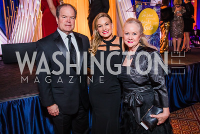 Allen Schwartz, Kelly Schwartz, Heather Russell. Photo by Alfredo Flores. The Lab School of Washington's 35th Awards Gala. National Building Museum. November 14, 2019