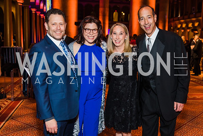 Eric Feig, Heidi Feig, Gwen Nappi, Doug Nappi,  Photo by Alfredo Flores. The Lab School of Washington's 35th Awards Gala. National Building Museum. November 14, 2019 .dngu2