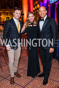 Rupert Murray, Kelly Schwartz, Geoff Bennett. Photo by Alfredo Flores. The Lab School of Washington's 35th Awards Gala. National Building Museum. November 14, 2019