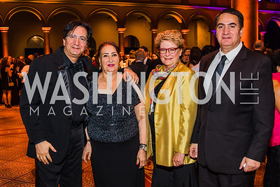 Aref Alvandi, Mahin Alvandi, Ilene Weinbrenner, Bahram Alvandi,  The Lab School of Washington's 35th Awards Gala. National Building Museum. November 14, 2019 .dng