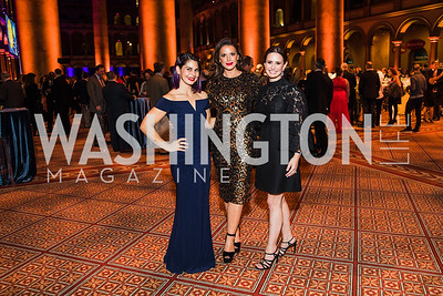 Dia Ruocco, Sarah Bassam, Jennifer Miller, Photo by Alfredo Flores. The Lab School of Washington's 35th Awards Gala. National Building Museum. November 14, 2019