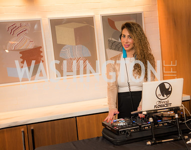 DJ Farrah Floscett, Washington Life, Tech Issue Party, One Hill South, March 4, 2019, photo by Ben Droz.