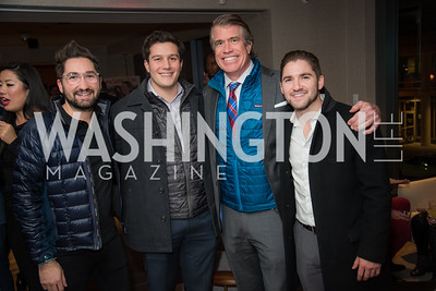 Jason Zuccari, Robbie Bracci, Scott Stewart, Jarred Zuccari, Washington Life, Tech Issue Party, One Hill South, March 4, 2019, photo by Ben Droz.