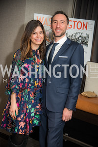 Julie Weinblatt, Ezra Weinblatt,  Washington Life, Tech Issue Party, One Hill South, March 4, 2019, photo by Ben Droz.