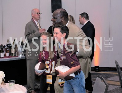Kayla Kelly, Dexter Manley, Jack Rainey. Photo by Yasmin Holman. Redskins Welcome Home Lunch 2019. Washington  Hilton. 08.28.19