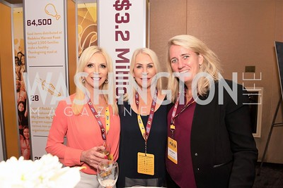Miki Purcell, Fran McKeever, Laura Dengon. Photo by Yasmin Holman. Washington Redskins Lunch. Washington Hilton. 08.29.19