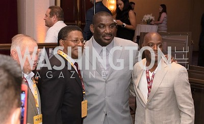 Bubba Tyer, Ken Houston, Doug Williams. Photo by Yasmin Holman. Washington Redskins Lunch. Washington Hilton. 08.28.19