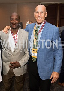 Darrell Green, Brad Edwards. Photo by Yasmin Holman. Washington Redskins Lunch 2019. Washington Hilton. 08.28.19