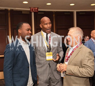 Cameron Mann, Charles Mann, Bubba Tyer. Photo by Yasmin Holman. Washington Redskins Lunch 2019. Washington Hilton. 08.28.19