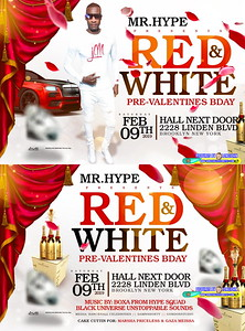 Sat. Feb. 9 (BOOKED) GIZZY HYPE's RED & WHITE AFFAIR