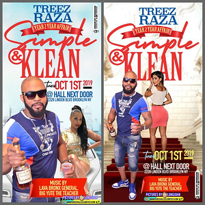Tue. Oct. 1 (BOOKED) TREEZ SIMPLE & KLEAN