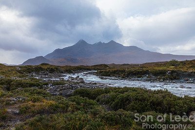 The Cuillins from the Old Bridge at Sligachan