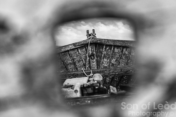 Through the boat hole