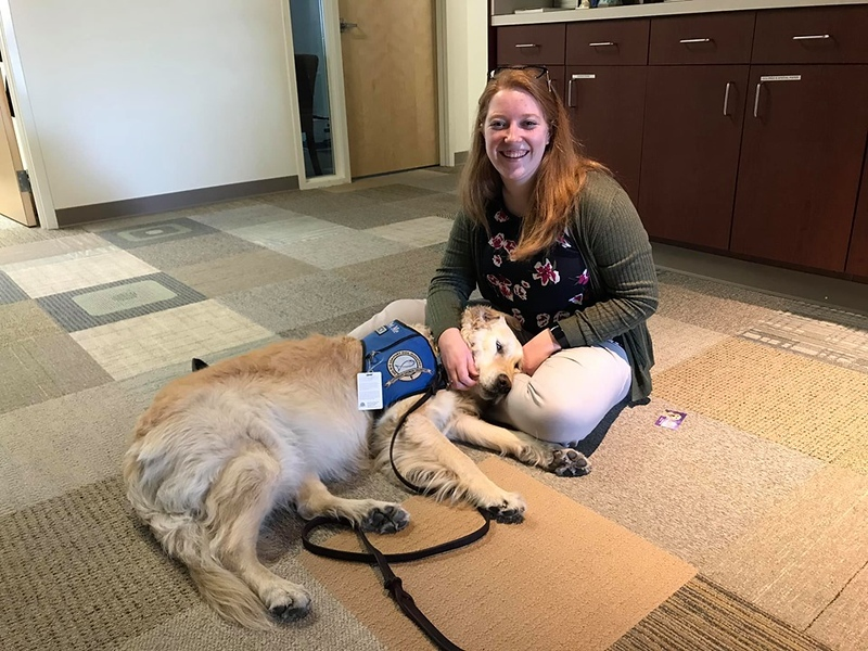 Anna Comfort Dog Comforting in Dayton, Ohio