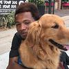 Bekah Comfort Dog with friend at Levitt Pavilion