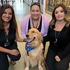 Gabriel Comfort Dog With some staff of Horizon High School before the vigil for one of their students who was killed - El Paso