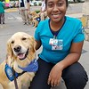 Abner Comfort Dog visiting with  the staff at Del Sol Medical Center - El Paso, Texas