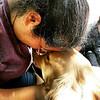Martha Comfort Dog comforting in El Paso Texas