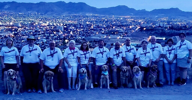 First Group of LCC K-9 Comfort Dogs and Handlers in El Paso