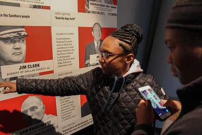 GWU students visit the Civil and Human Right Museum in Atlanta, Georgia.