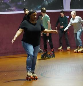Gardner-Webb University skate night at Kylie's Skate Rink.