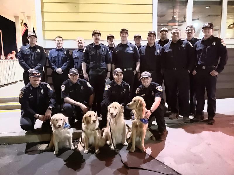 LCC K-9 Comfort Dogs with first responders - Saugus HS Shooting- Santa Clarita, CA