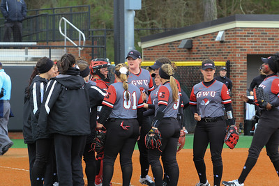GWU Softball plays Oakland on Sat, Feb 16, 2019.