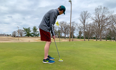 GWU Senior Peter Wakeley enjoys his retirement from swimming by playing some rounds of golf