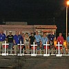 LCC K-9 Comfort Dogs Behind Crosses for Losses