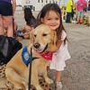 Abner Comfort Dog with a Little Friend at the Memorial in Odessa
