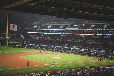 The PIttsburgh Pirates and Chicago Cubs face off at PNC Park on July 2, 2019.