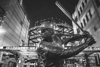 The Willie Stargell statue outside of PNC Park home of the PIttsburgh Pirates