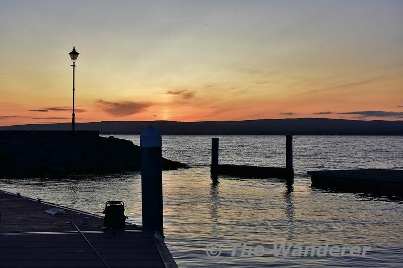 Sunset at Garrykennedy. Wed 07.08.19