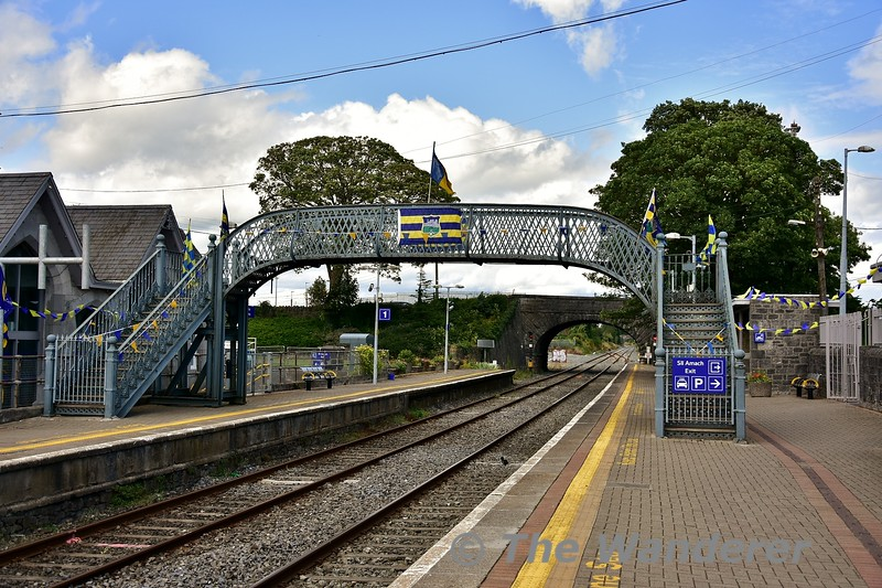 Thurles Station is decked out in Tipperary flags in advance of the All Ireland Hurling Final on Sunday 18th August. Mon 05.08.19