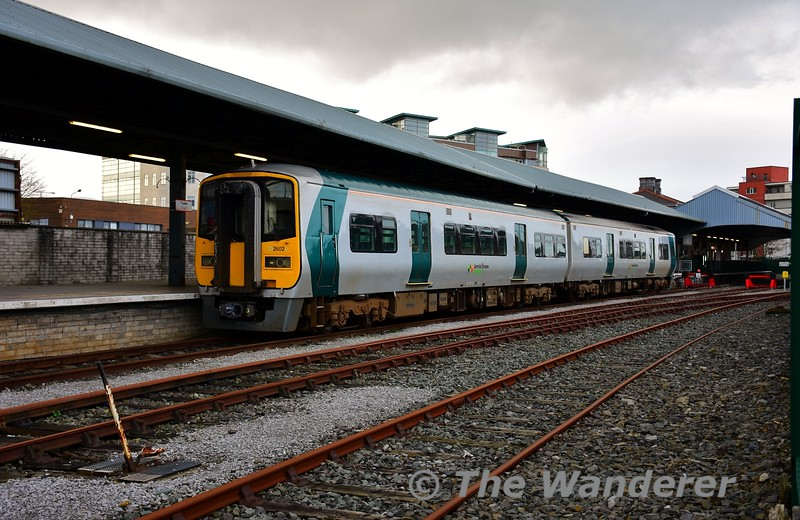 2602 + 2601 are pictured stabled in Tralee on Saturday 7th December. The set had worked the 0625 Cork - Tralee that morning and would return to Cork on the 0445 Tralee - Mallow, 0655 Mallow - Cork on Monday. The set would be shunted to the Liner Road (in the foreground) later that evening, freeing up platform 1 for the 1705 Heuston - Tralee to stable. Sat 07.12.19