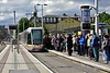 3006 arrives at a busy Heuston stop with a Red Line Tram to The Point. Tues 11.06.19
