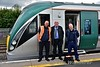 The train crew for the 1135 Hazelhatch - Grand Canal Dock pose for the camera at Hazelhatch. Left to right is Driver Wayne Dixion, DTE Tony Cooke and Driver Paul Deere. While Paul was the rostered Driver for this service, Wayne was being assessed by Tony for the GCD route. Tues 11.06.19