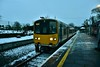 2807 + 2808 stand at a snow covered Nenagh with the 0630 Limerick - Ballybrophy. Mon 04.03.19