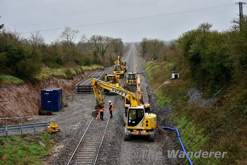 Engineering works near ShinanaghLevel Crossing around the 133 milepost on Saturday 2nd March 2019. Dublin - Cork services operated as far as Charleville. Bus transfers were in operation between Charleville and Mallow and Cork passengers had to endure a bus journey between Thurles and Cork. Sat 02.03.19