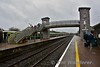 Passengers from Mallow cross the footbridge at Charleville to board the 1235 Charleville - Heuston. Sat 02.03.19