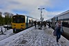 Changing trains at Ballybrophy. 2807 + 2808 have just arrived with the 0630 from Limerick via Nenagh and its passengers board the 0740 Limerick - Heuston formed of 22038. Mon 04.03.19