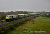In the middle of a heavy downpour, 219 and MKIV set 4003 passes the site of Charleville North Jct. with the 1100 Heuston - Charleville. The junction here was for the branch to Limerick via Patrickswell. Sat 02.03.19