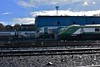 Stabled 22000's 22049 and 22034 are overtaken by 4003 arriving at Heuston with the 1225 from Cork. Mon 04.03.19