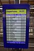 Departure information at Heuston. Mon 04.03.19