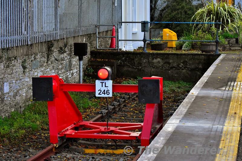 Buffer Stop TL246 at Killarney Bay Platform. Sun 03.11.19