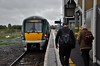 22054 waits to depart from Limerick Jct.'s platform 3 with the delayed 1237 to Limerick. Mon 14.10.19