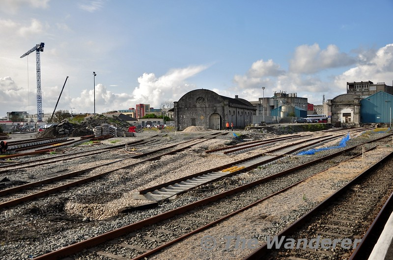 Changes to the layout are coming at Galway. The existing two sidings are to be removed and replaced with the two new sidings under construction. Fri 11.10.19