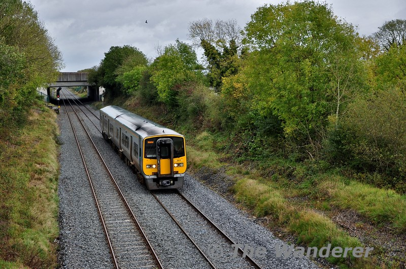 2611 + 2612 have just departed Laois Traincare Depot with the 1345 Driver Training Spl. to Cork. The outward working from Cork departed at 1045 and operated via Limerick Jct. Pocket Loop and Thurles Down Loop. They are pictured at Clonkeen heading back to Cork. Thurs 10.10.19
