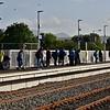 Passengers on the new platform 4 wait for the 1600 Heuston - Cork. Fri 06.09.19