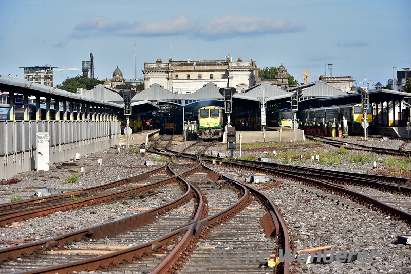 Looking towards Heuston Station from the Heuston Valenting Plant. Thurs 05.09.19